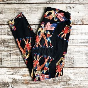LULAROE | July 4th Patriotic Uncle Sam Leggings OS